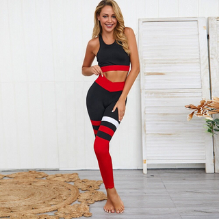 Tank Top Women Seamless Yoga Set Gym Clothing Fitness Leggings+Cropped Shirts Sport Yoga Suit
