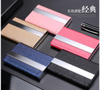 Stainless Steel And Leather Mens Leather Card Holder