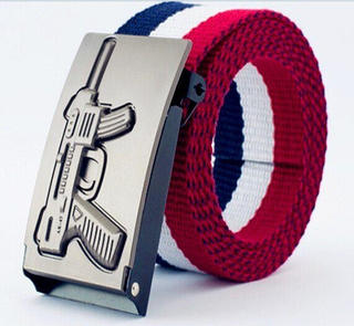 New Fashion Webbing Elastic Belt Metal Buckle