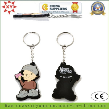 3D Soft PVC Key Ring with Chain