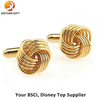 Gold Plating Dragon Shape Mens Cufflinks for Gifts