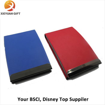 Promotional Fake PU Leather Foldable Card Holder
