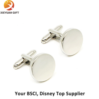 Round Shape Blank Cufflinks for Engraving