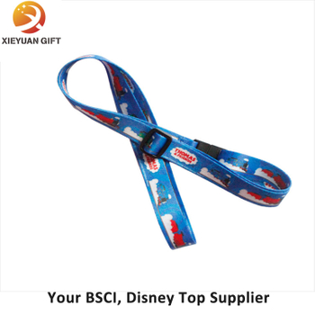 New Fashion Polyester Double Logo Design Lanyard