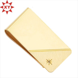 Hot Selling Leather Custom Logo Money Clip for Business Gifts