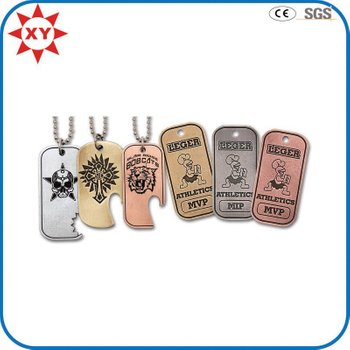 Custom Dog Tags Antique Hand Finished