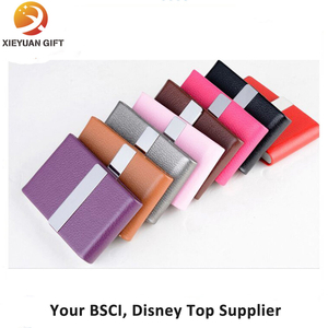 New Product Leather Craft Business Card Case for Woman