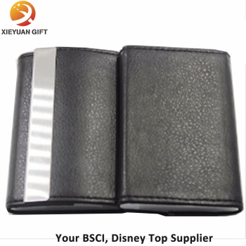 Black Leather Name Card Business Card Holder