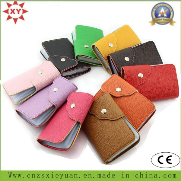 Fashion PU or Real Leather Card Bag