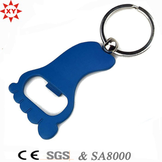 Promotion Gifts Foot Shape Bottle Opener with Key Ring