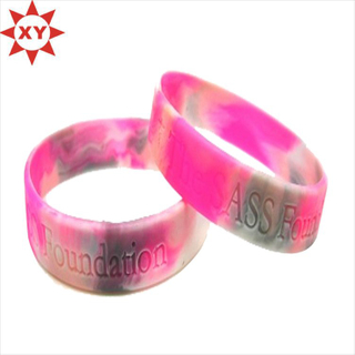 Attractive Customized Creating Silicone Bracelets (XYmxl1207)