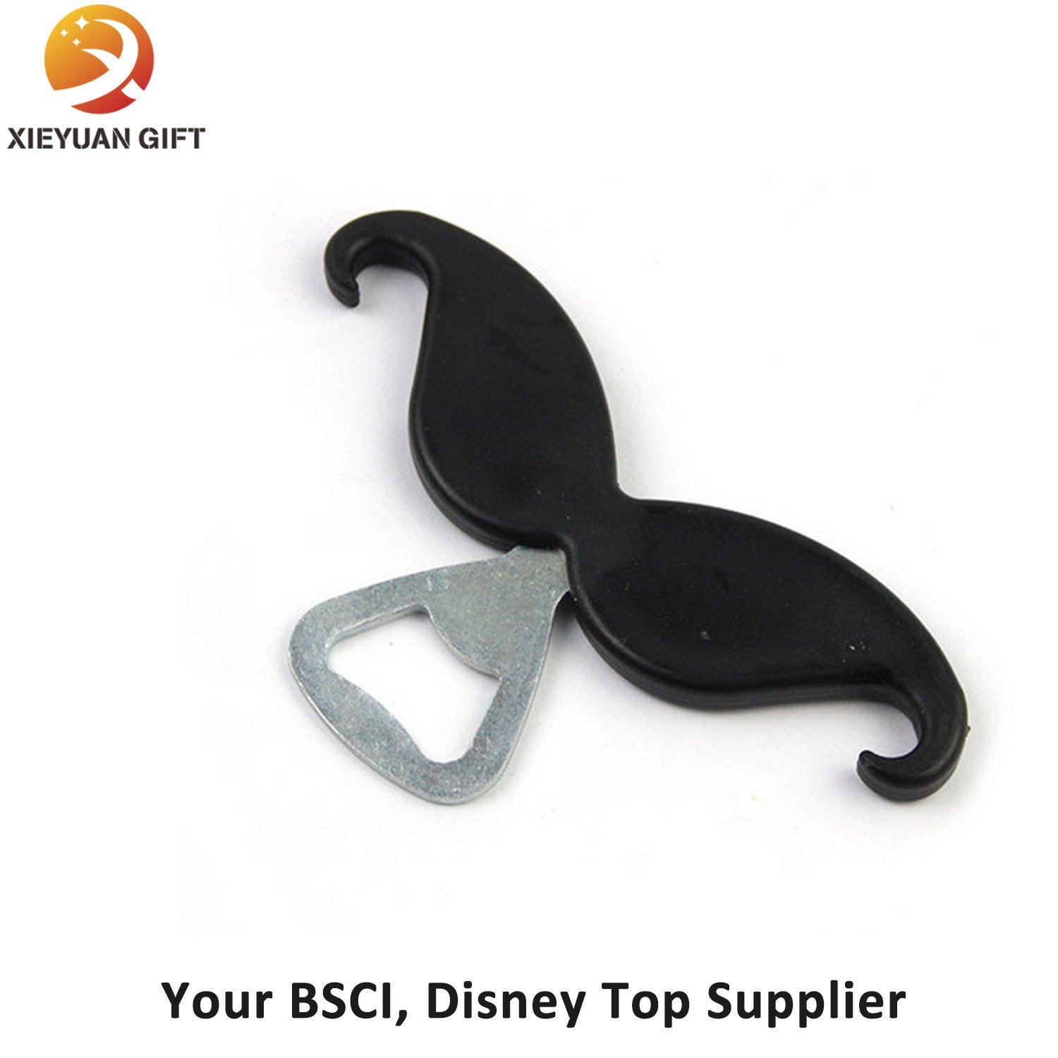 Eco-Friendly Mustache Printing Logo Bottle and Wine Opener