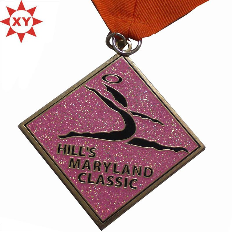 Custom Desgin Ballet Dance Medals with Ribbon