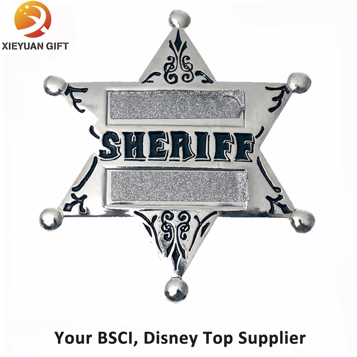 Custom Silve Badges with Butterfly Cap