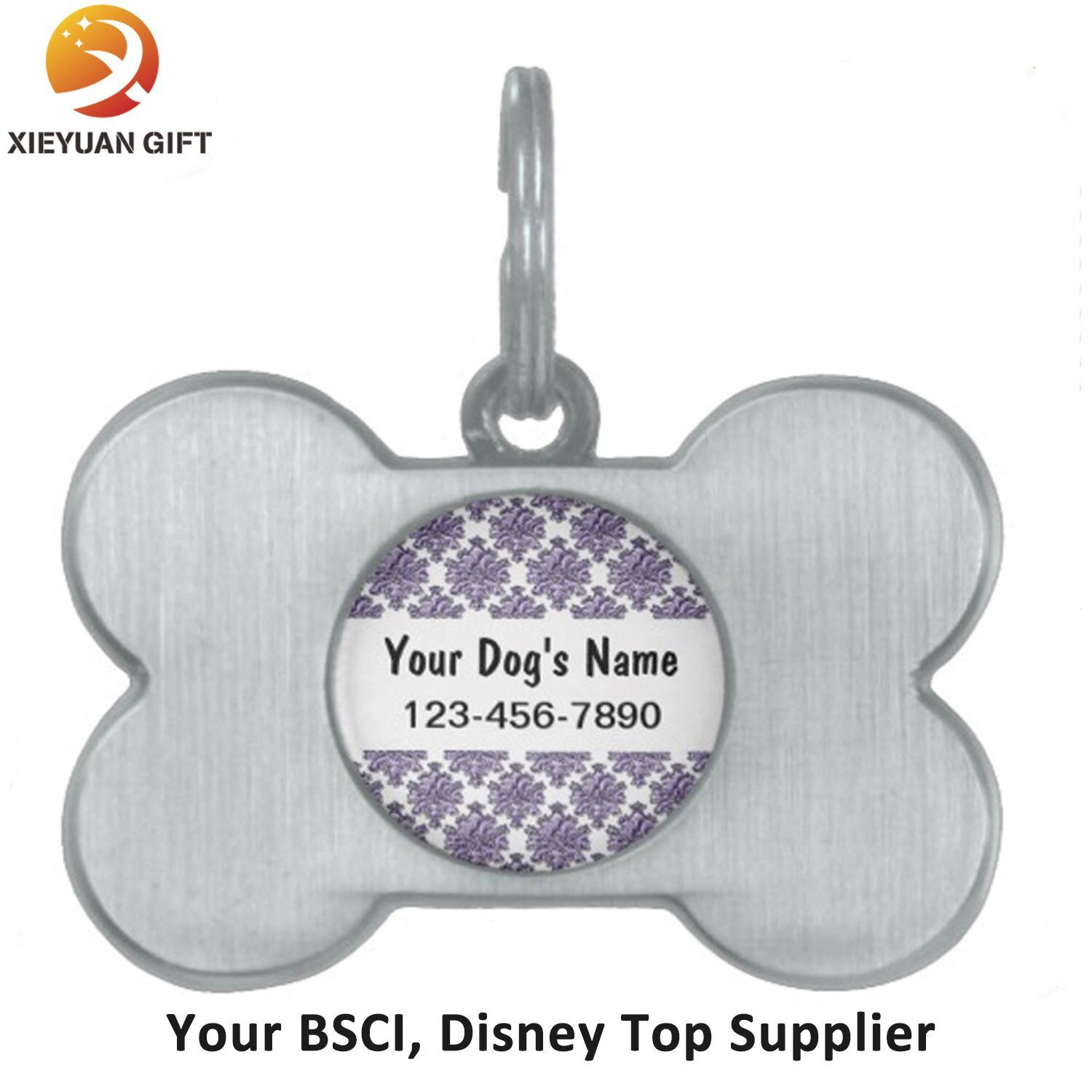 Black Pets The Original Dog ID Tag with Medium Personalized