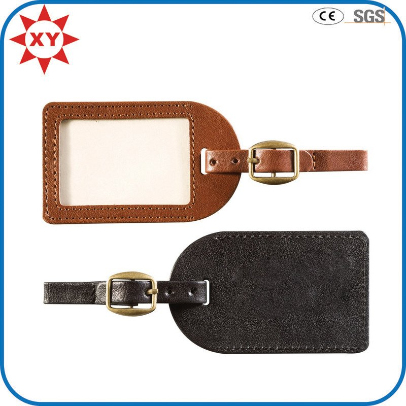 Factory Custom Free Mold Leather Luggage Tag