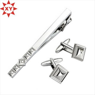 2015 New Products Elegant Enamel Men′s Tie Clip Cufflink Set (XY-MXL73008)
