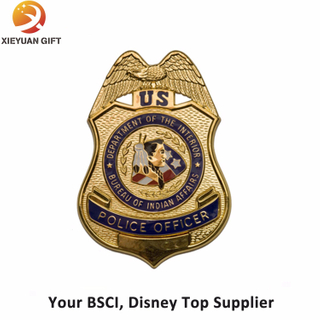 Hot Sales Plating Gold Metal Badges