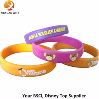 Cute Cartoon Logo Sayings Bracelets Assorted Colors Silicon Wristband