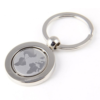Custom Map Logo Rotation Keychain