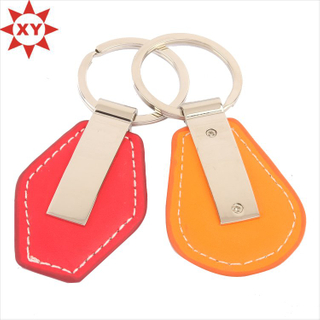 Discount Price Heart Shape PU Leather Keychain for Gifts