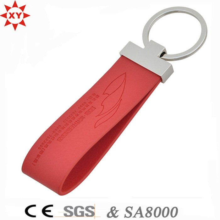 Free Samples Custom Leather Keychain for Promotion Gift