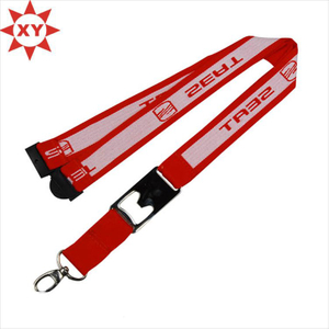 New Fashion Polyester Double Logo Design Lanyard (XY-MXL807)