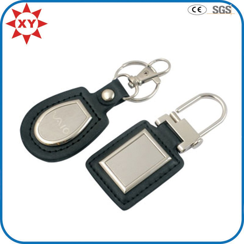 Promotion Leather Metal Lanyard Keychain