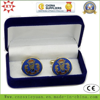 High Quality Velvet Cufflink Box with Custom Logo