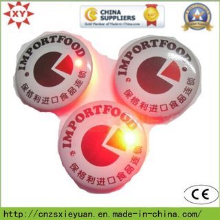 Wholesale Round Flashlight Button Pin Badge with Custom Logo