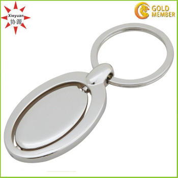 Can Do Custom Logo Metal Rotating Key Rings