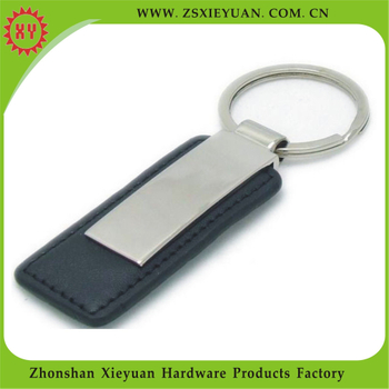 Free Samples Genuine Leather Car Keychain