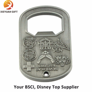 New Products 3D Engraved Metal Opener with Your Design