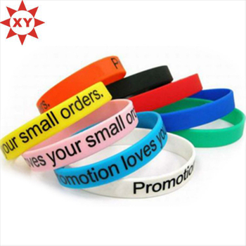 Colorful Silicon Wristbands Print Logo with Black Writing