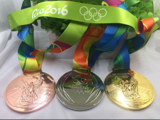 Collection Olympic Medals with Ribbon