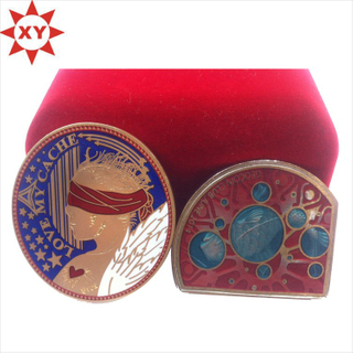 2015 Souvenir Custom Zinc Alloy Colorful Enamel Metal Coin