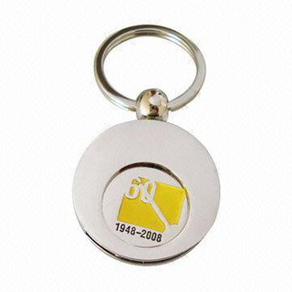 Promotion Zinc Alloy Custom Trolley Coin Keychain