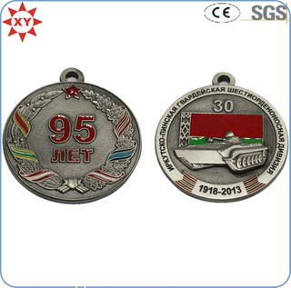 Custom 95 Plated Antique Soft Enamel Medals