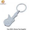 Gifts Guitar Shape Silver Plated Key Chains