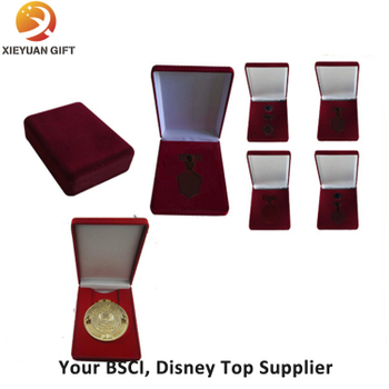 Custom Velvet and Wood Box for Medal