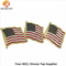 America Three Flag Soft Enamel Lapel Pin Badge