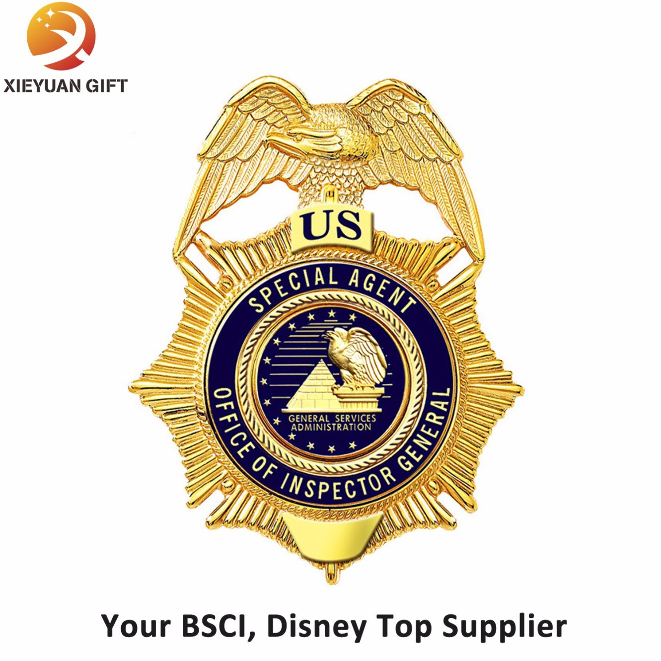 Gold Metal Badges with Your Logo