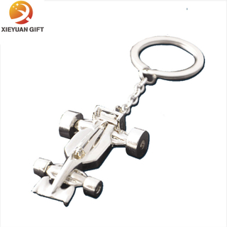 Plane Shape 3D Metal Key Holder with Silver Plating (XY-mxl91005)