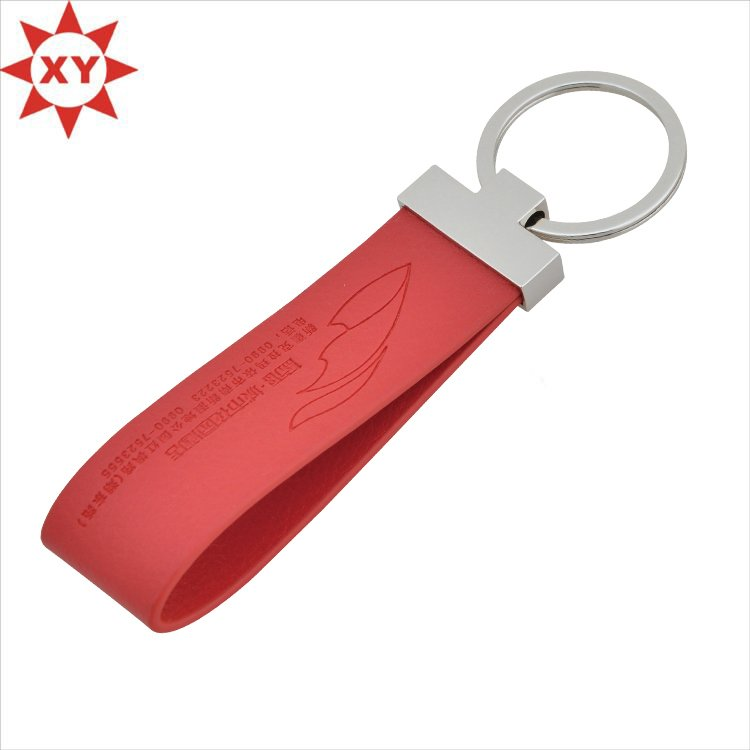 New Arrived Good Quality Custom Leather Keychain