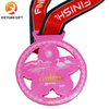 Factory Direct Wholesale Custom Hollow out Design Medal for cherry blossom