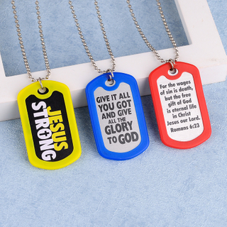 Wholesale Custom Antique Silver Soft Enamel Laser Metal Dog Tag Chain