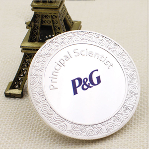 make your own logo custom High quality cheap silver The die casting COINS