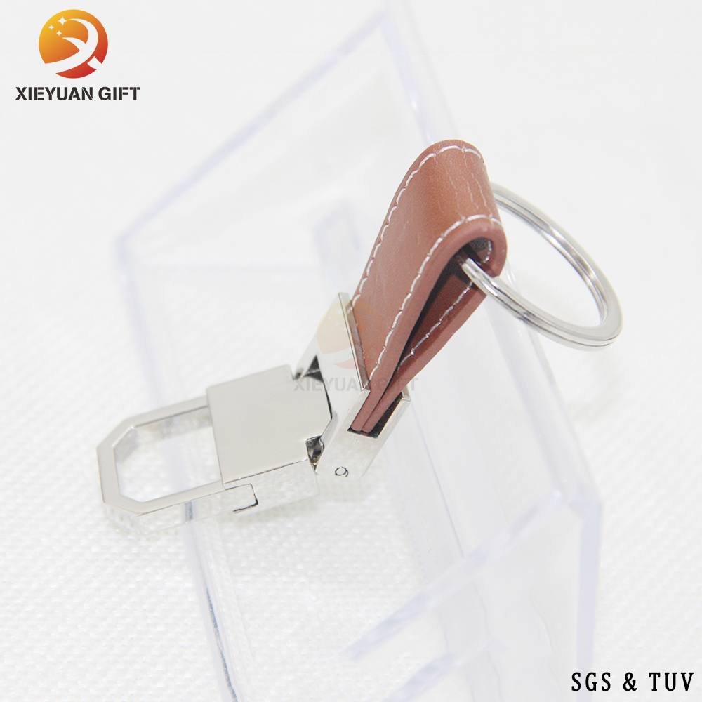 China Factory Custom Made High Quality Key Chain with Multiple Key Collars And Leather Key Belt